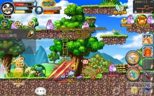 《冒险王》游戏画面风格取材于原版盛大游戏冒险岛